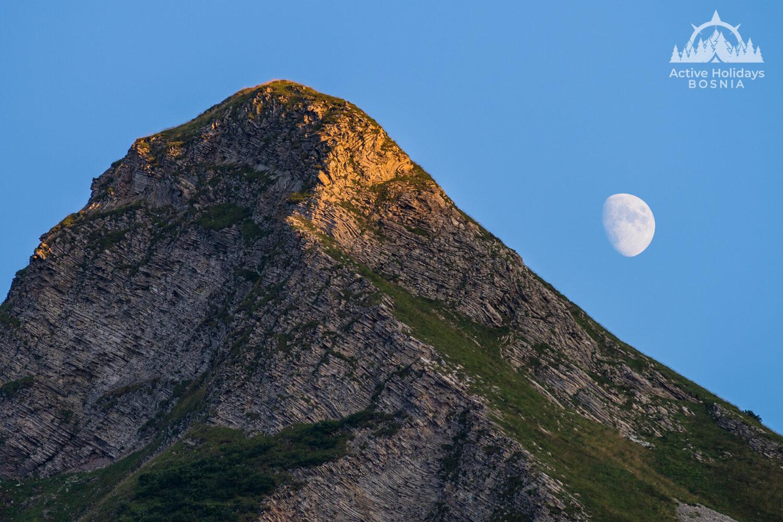 Bregoc highest peak of mountain Zelengora