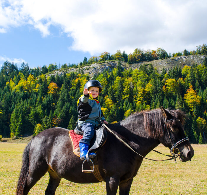 kid horseback riding zelengora