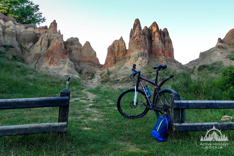 Mountain biking sand pyramids