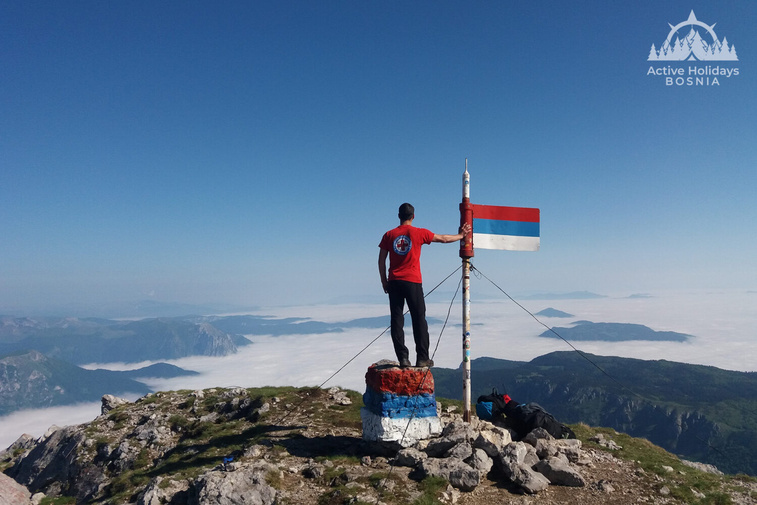 Top of the mountain Maglic