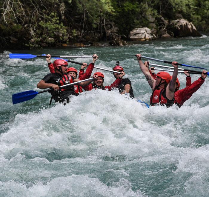 Tara River white water rafting