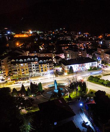 Foca city drone pogled