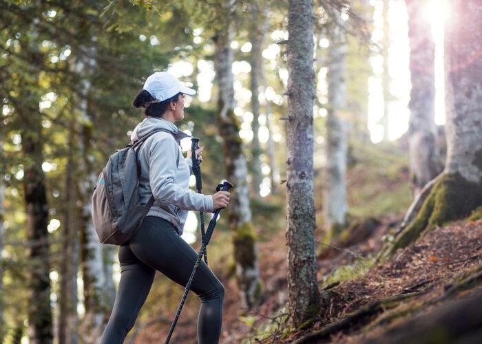 Girl hiking in National Park Sutjeska Perucica