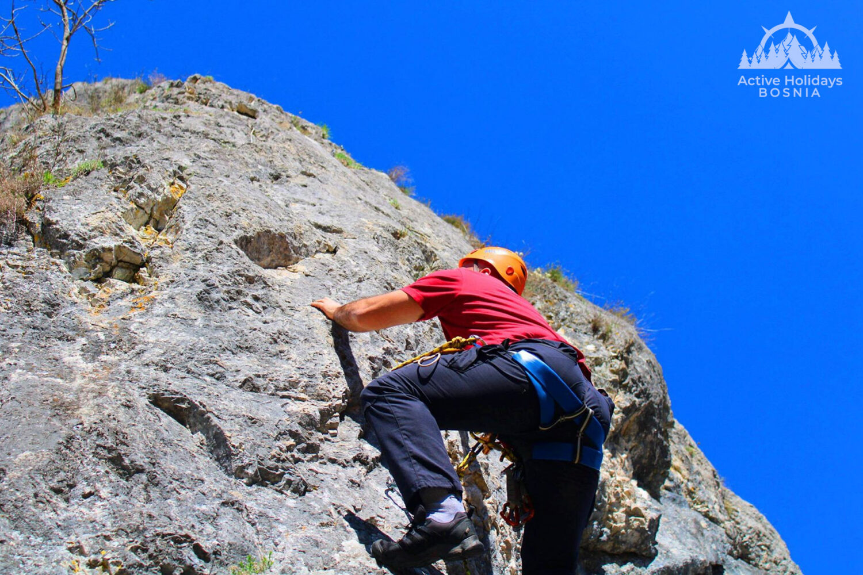 Ozren rock free climbing